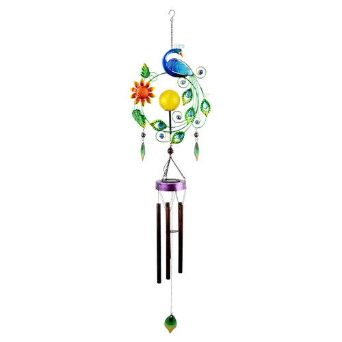 Solar Peacock Wind Chime