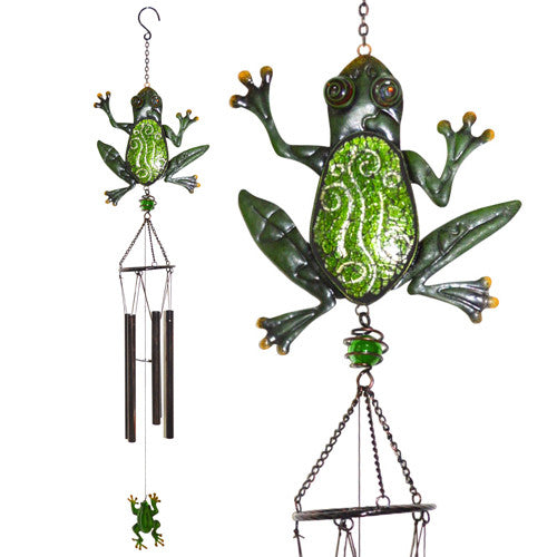 Glimmer & Glass Frog Wind Chime