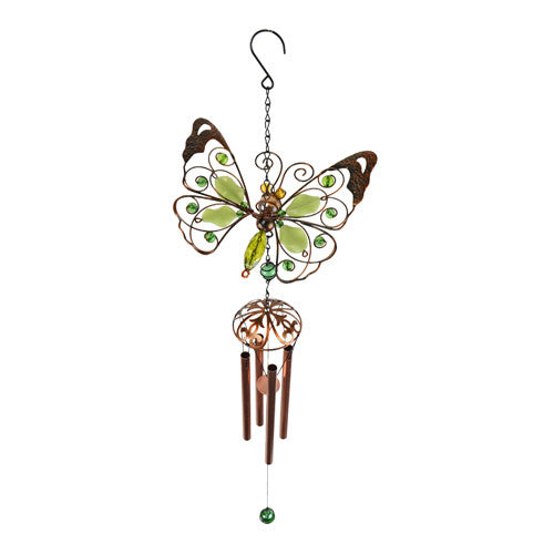 Spring Wings Green Butterfly Wind Chime