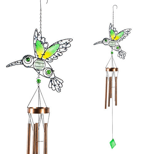 Glow In The Dark Beaded Hummingbird Wind Chime