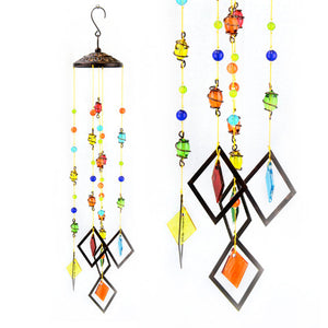 Multi Color Glass Wind Chime