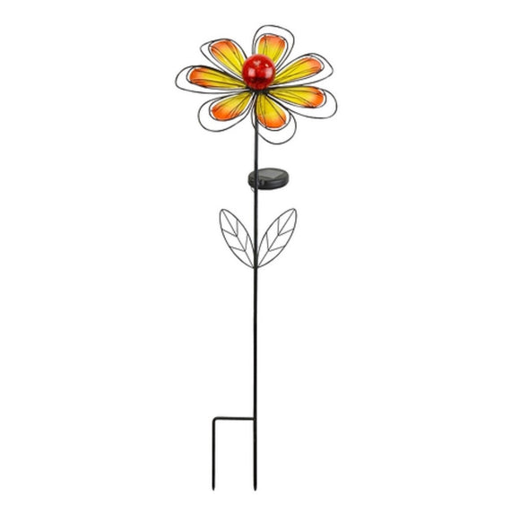 Yellow Solar Flower Garden Stake