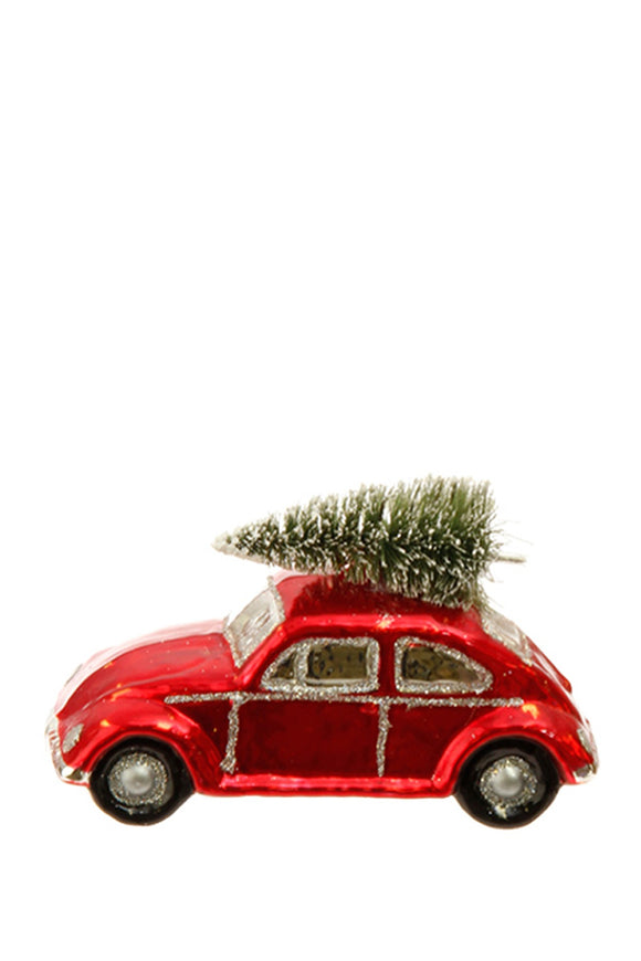 VW Bug Glass Ornament