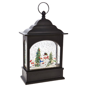 "11"" Snowman Caroler Lighted Water Lantern"
