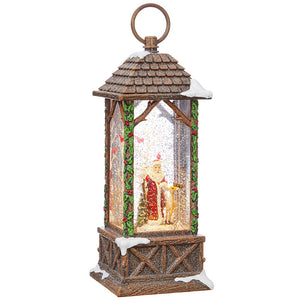 "10.75"" Santa Lighted Watern Lantern"
