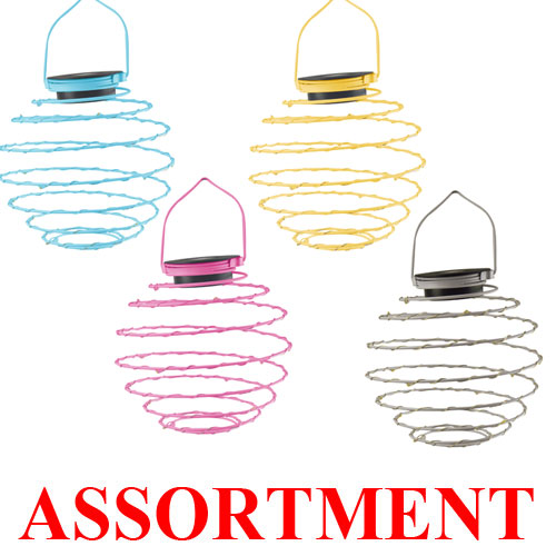 Solar LED Light Spiral Lantern Asst.