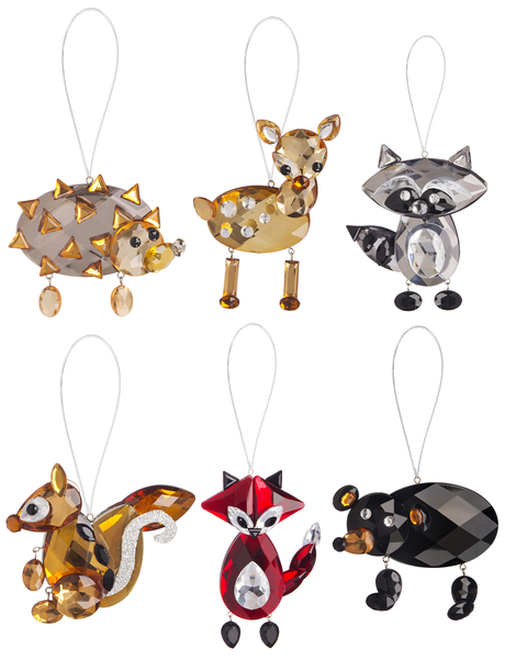 Crystal Expressions Woodland Animal Ornament Assortment