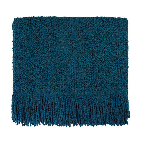 Campbell Teal Throw Blanket