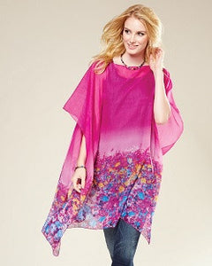 Sheer Absract Floral Tunic