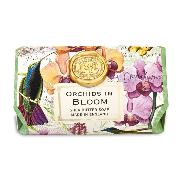 Orchids In Bloom Large Bar Soap