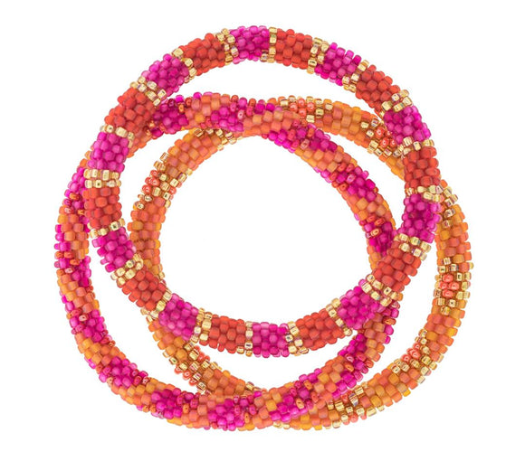 Original Roll On™ Carousel Glass Beaded Bracelet Set of Three