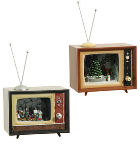 "6"" Animated Musical TV Brown Train Scenery"