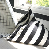 Monochrome Stripe Print Bean Bag