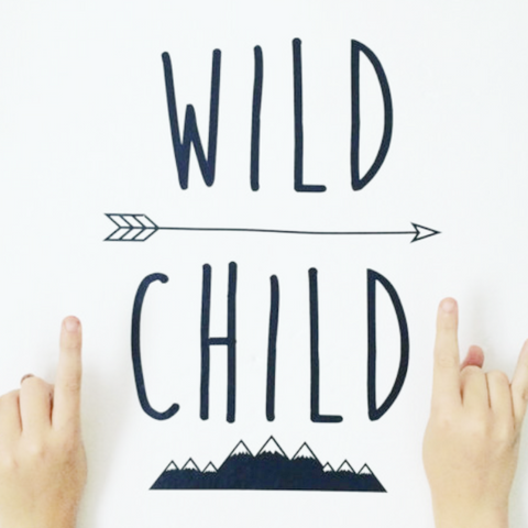 Decal Folk - Wild Child Wall Sticker