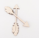 Small Scandi Wooden Arrow Decoration