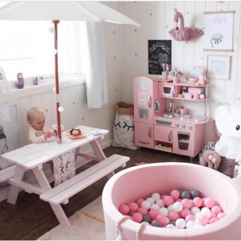 light pink ball pit
