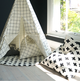 Wildfire Teepees Grid Print Bean Bag
