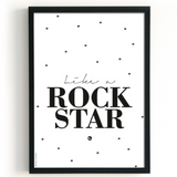 Rockstar and Happiness A4 Doublesided Poster