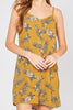 Tropical Mustard Button Down Dress