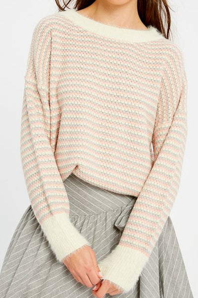 Light Pink Stripe Sweater