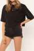 Black Easy Life Knit Top