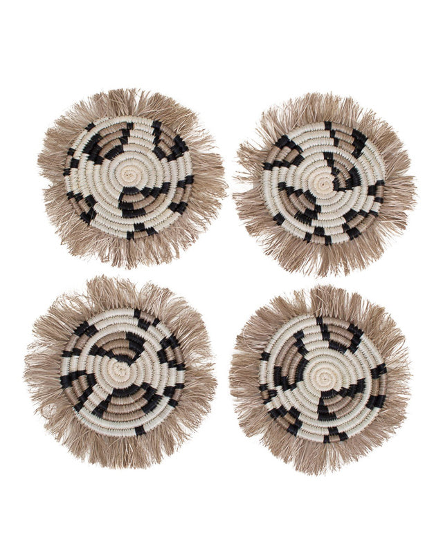 Leopard Fringed Coasters