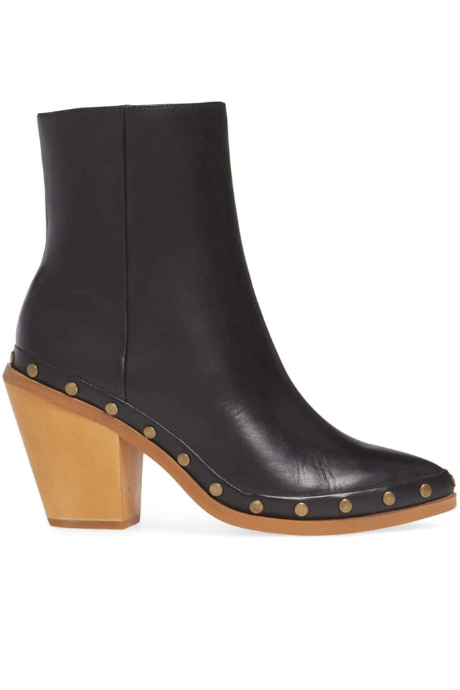 Empire Black Leather Ankle Boots
