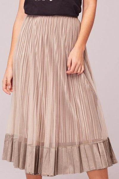 Tiny Dancer Taupe Skirt