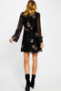 Tatiana Black Floral Dress