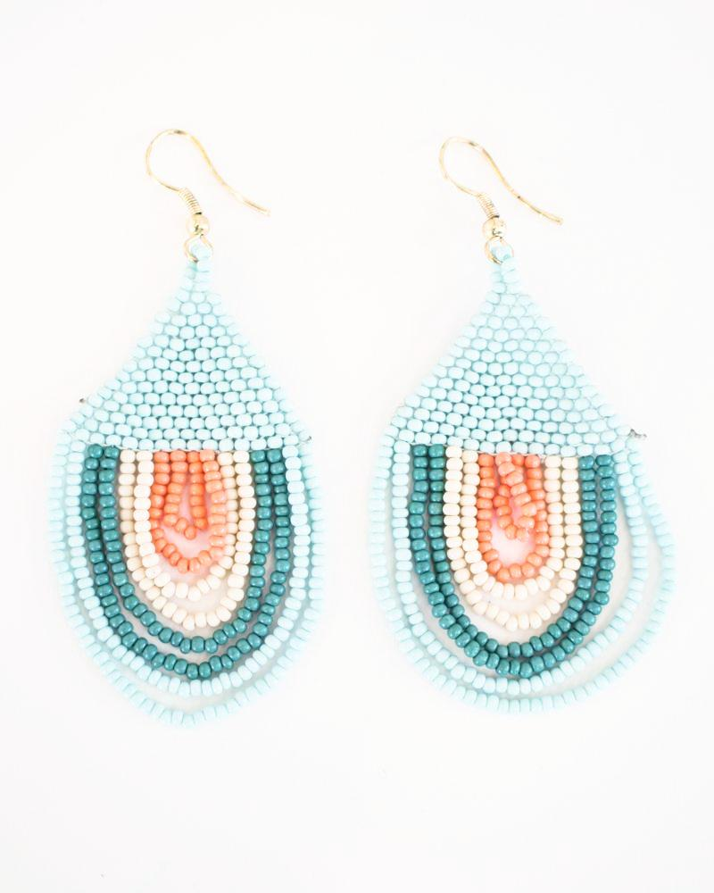 Blue Block Sunset Earrings