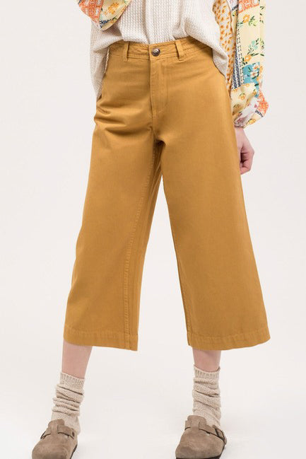 Wide Leg Chino Pants