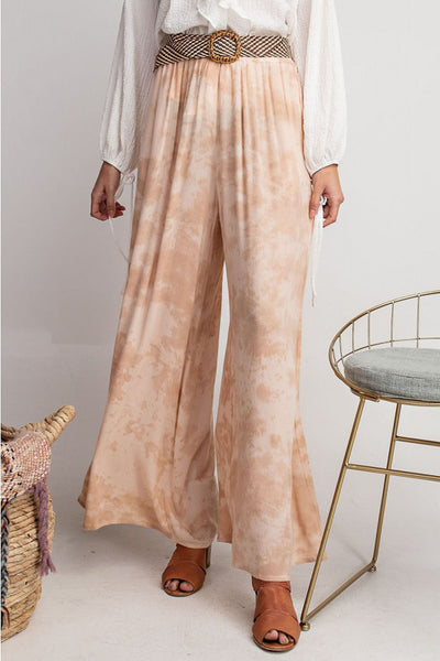 Blush Tie Dye Wide Leg Pants