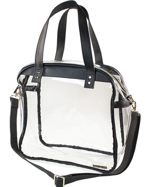 Clear and Black Carryall Tote