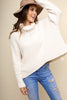 Ivory Chenille Cowl Neck Sweater