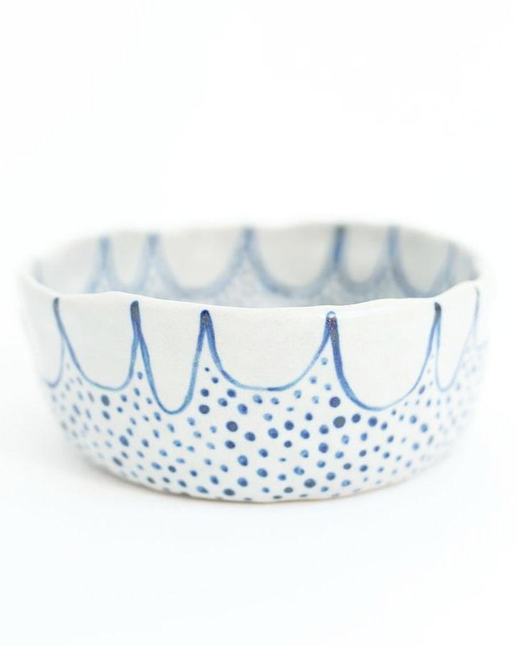 Scallop Ceramic Bowl