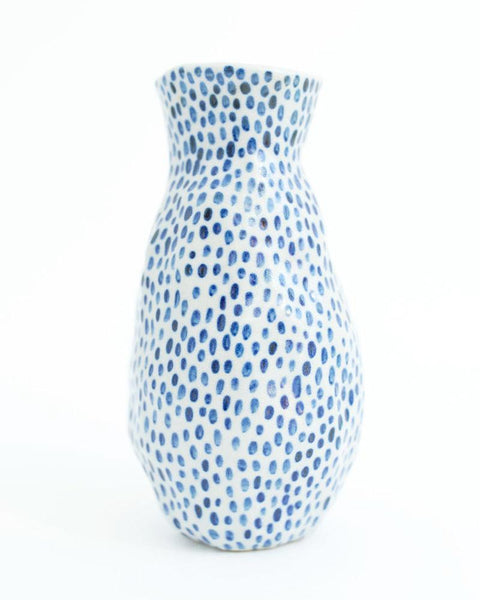 Tall Polka Dot Vase