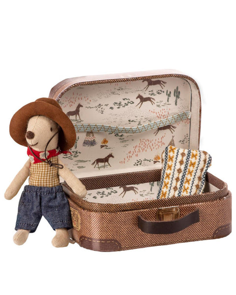 Cowboy Mouse with Suitcase