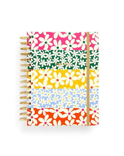 Daisies Medium Spiral 17 Month Planner