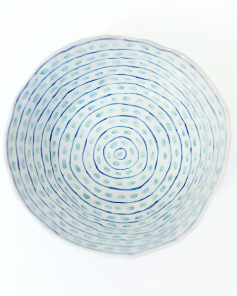 Dashes and Stripes Ceramic Bowl