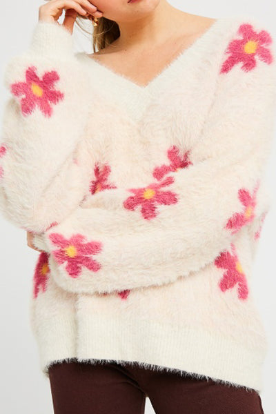 Flower Power Pullover Sweater
