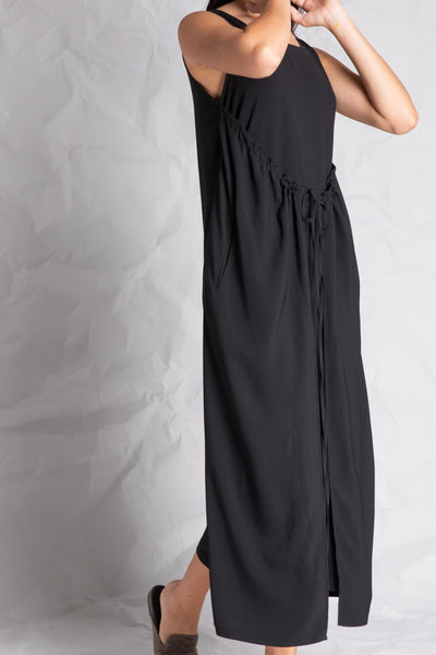 Black Drawstring Wing Jumpsuit