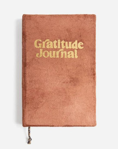 Gratitude Rust Velvet Journal