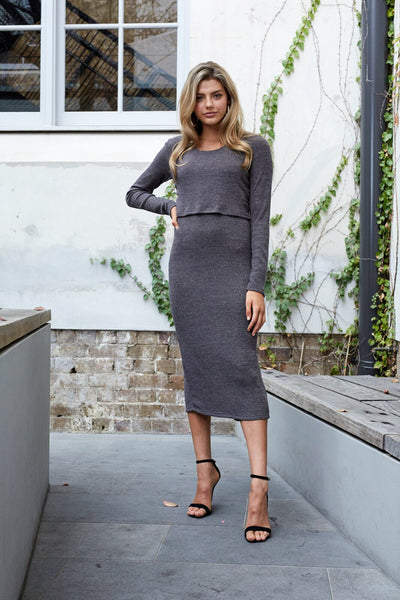 Maxi Cut-Out Layered Dress