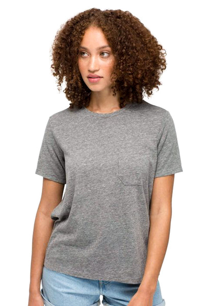 Gray Pocket Crew Tee