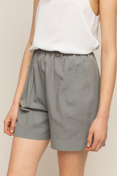 Field Slate Grey Button Waist Shorts