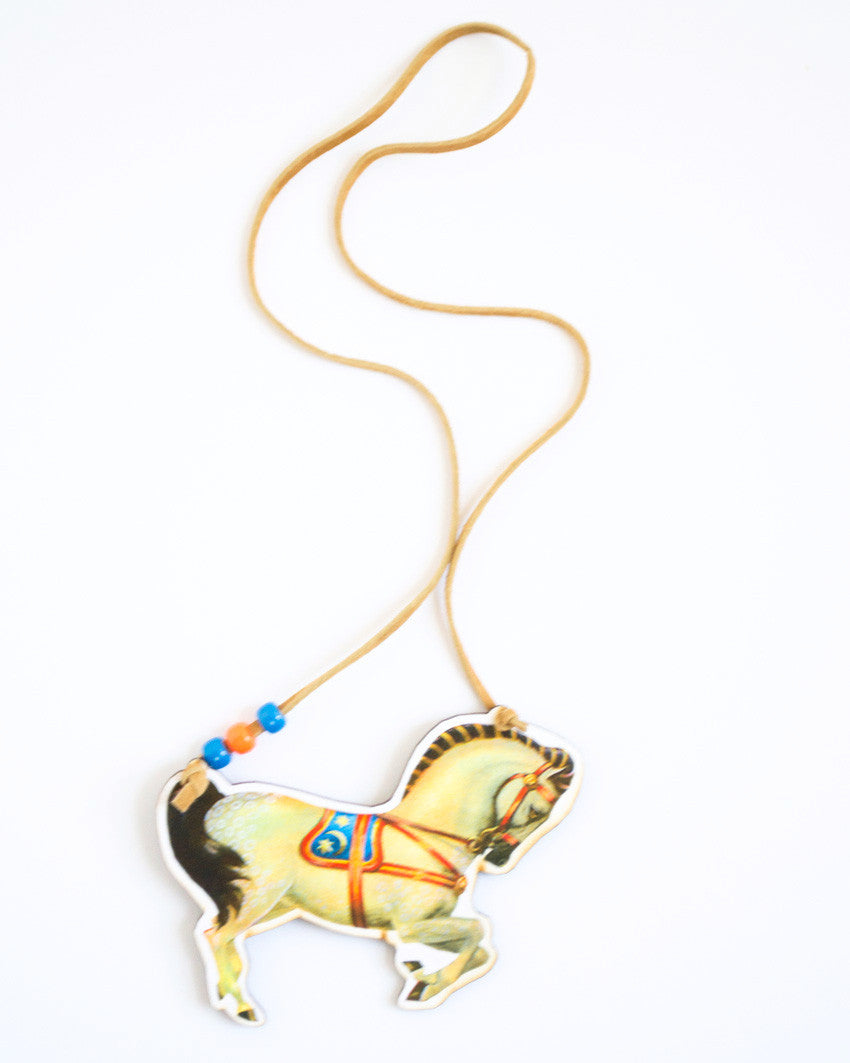 Lightning Horse Necklace