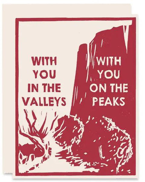 Peaks and Valleys Card
