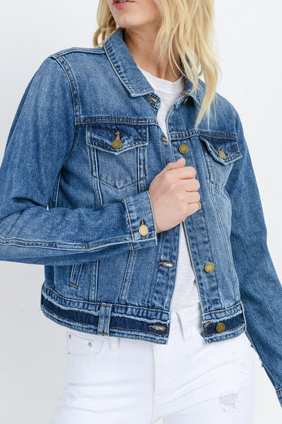 Fray Edge Jean Jacket