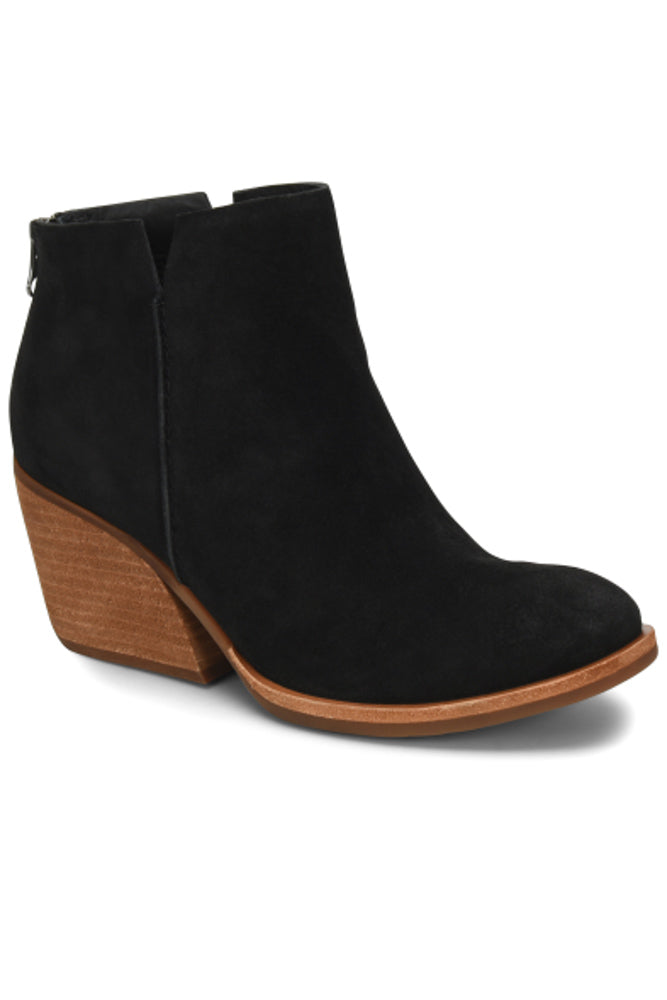 Black Suede Chandra Boot