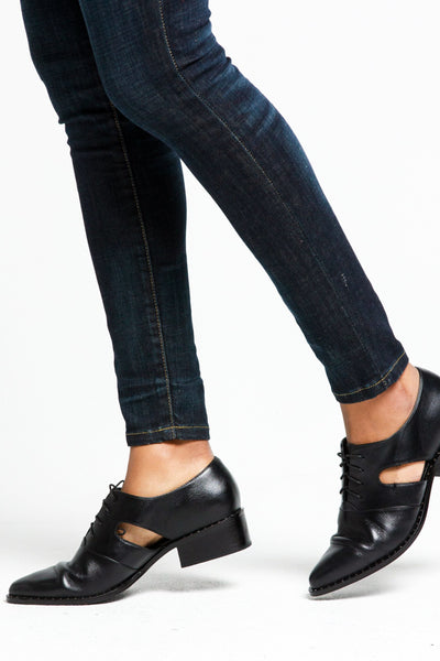 Lizette Derby Cut Out Shoe